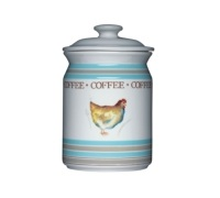Hen House Ceramic Coffee Storage Jar