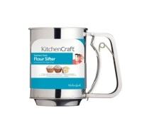 Kitchen Craft Stainless Steel Trigger Action Flour Sifter