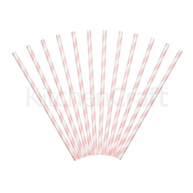 Sweetly Does It Pack of 12 Paper Straws
