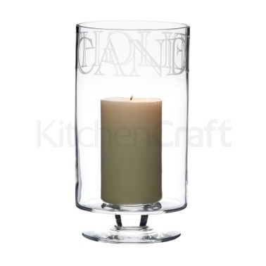 Artesà Glass Hurricane Lamp