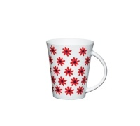 Kitchen Craft Fine Porcelain Red Daisy Mug
