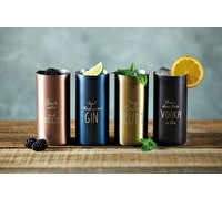 BarCraft Display of Twelve 500 ml Stainless Steel Tumblers