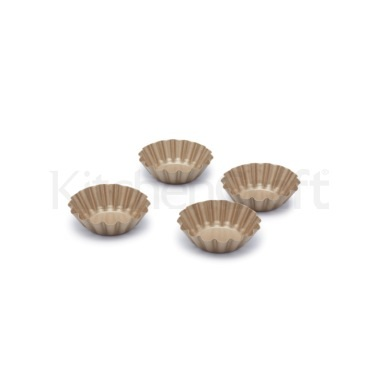 Paul Hollywood Set of 4 Non-Stick Mini Round Fluted Tart Tins