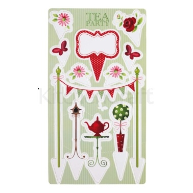 Sweetly Does It Tea Party Cake Toppers