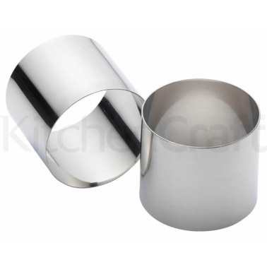 Kitchen Craft Set of Two Stainless Steel Deep Cooking Rings