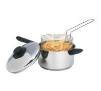 KitchenCraft Stainless Steel Large Chip Fryer and Basket