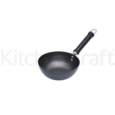 World of Flavours Oriental Carbon Steel 20cm Non-Stick Wok
