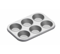 Kitchen Craft Non-Stick Six Hole Baking Pan