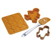 Let's Make 4 Piece Gingerbread Baking Set