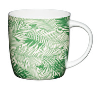 KitchenCraft Set of Four Fine Bone China Palm Trees Mugs