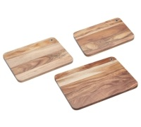 Natural Elements Acacia Wood Chopping Board Set