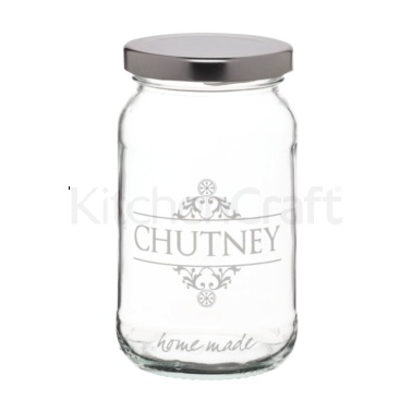 Home Made Traditional Glass 454ml 'Chutney' Jar
