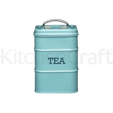 Living Nostalgia Vintage Blue Tea Tin