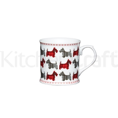 Kitchen Craft Scottie Dog Fine Porcelain Scottie's Friends Mug