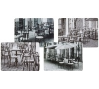 Kitchen Craft Café Cork Back Laminated Set of 4 Placemats