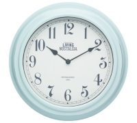Living Nostalgia Vintage Blue Wall Clock