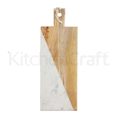 Master Class Gourmet Prep & Serve Wood & Marble Paddle Board