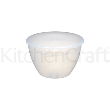 KitchenCraft Plastic 855ml Pudding Basin and Lid