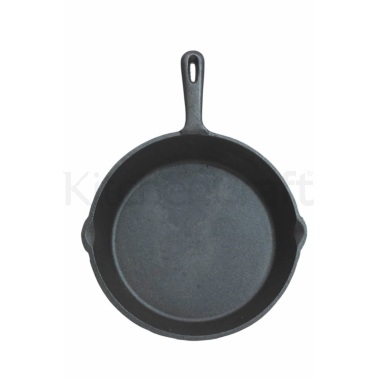 Kitchen Craft Deluxe Cast Iron 24cm Round Plain Grill Pan