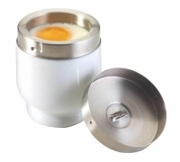 KitchenCraft Porcelain Egg Coddler With Stainless Steel Top