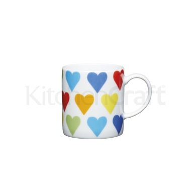 KitchenCraft 80ml Porcelain Hearts Espresso Cup
