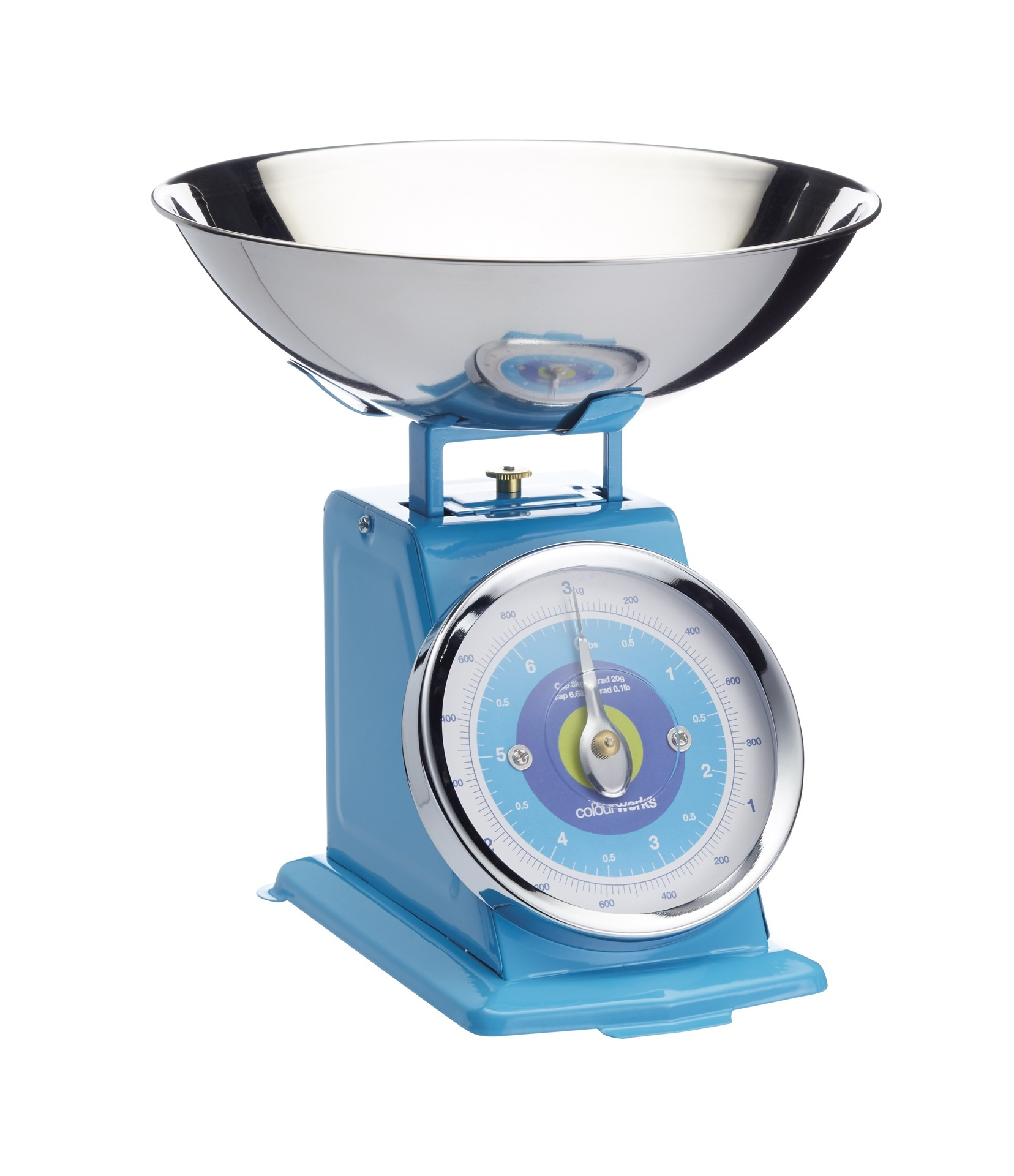 Blue Kitchen Scales: Colourworks Blue 3kg Mechanical Scales