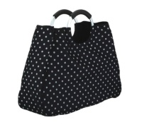 Coolmovers 17 Litre Reusable Black Polka Dot Shopping Bag