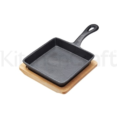 Artesà Cast Iron 15cm Small Fry Pan with Board