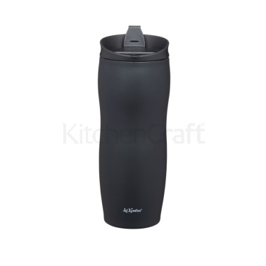 Le'Xpress 400ml Black Double Walled Insulated Travel Mug