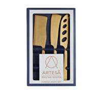 Artesà 3-Piece Set of Brass-Finished Cheese Knives