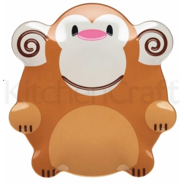 Let's Make Mason Monkey Melamine Plate
