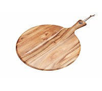 KitchenCraft Natural Elements Acacia Wood Round Serving Paddle Board