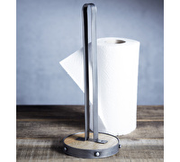 Industrial Kitchen Metal / Wooden Kitchen Roll Holder