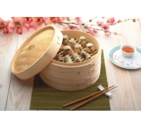 KitchenCraft World of Flavours Oriental Large Two Tier Bamboo Steamer