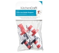 KitchenCraft Set of Four Lever-Arm Action Bottle Stoppers
