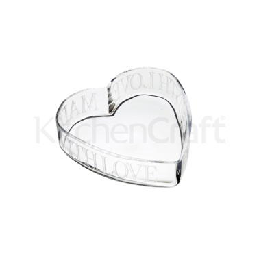 Artesà Glass Heart Serving Dish