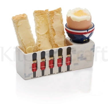 Kitsch'n'Fun Humpty Dumpty Ceramic Egg and Soldiers Set