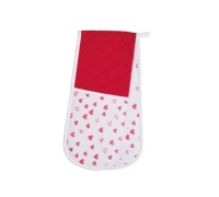 Kitchen Craft Hearts Double Oven Glove