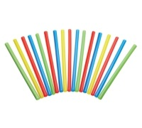 KitchenCraft Pack of 50 Plastic Smoothie / Milkshake Straws