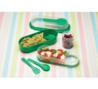 KitchenCraft Green Lunch & Snack Box