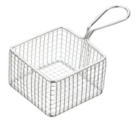 Master Class Professional Mini Deluxe Stainless Steel Square Fry Basket