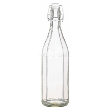 Kitchen Craft Glass 1 Litre Oil Bottle With Pop Stopper