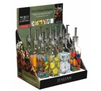 World of Flavours Italian Display of 12 Oil and Vinegar Drizzlers