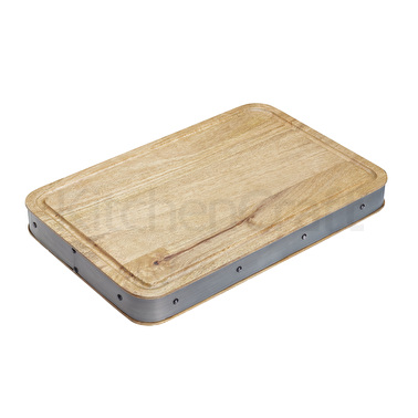 Industrial Kitchen Handmade Rectangular Wooden Butcher's Block Chopping Board