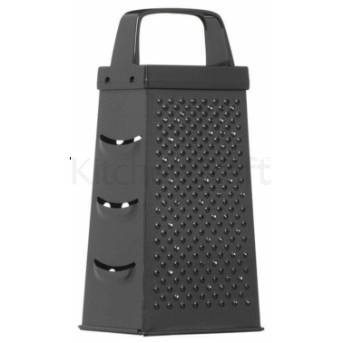 KitchenCraft Black Non-Stick 17cm Four Sided Box Grater