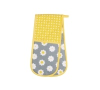 Kitchen Craft Retro Flower Double Oven Glove
