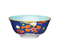 KitchenCraft Blossom and Peacock Feather Print Ceramic Bowls