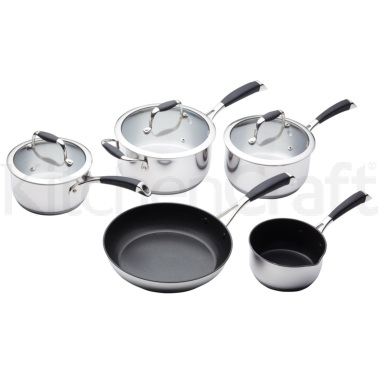 Master Class 5 Piece Deluxe Stainless Steel Cookware Set