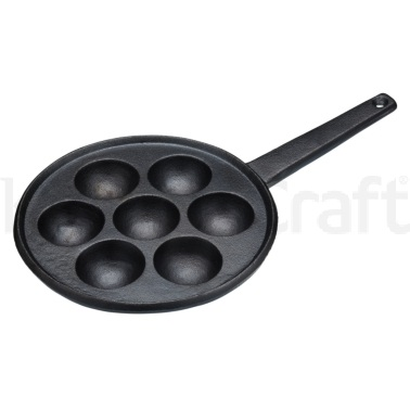 Kitchen Craft Æbleskiver Cast Iron Danish Pancake Pan