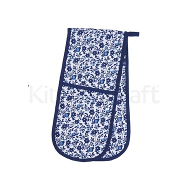 KitchenCraft Traditional Blue Double Oven Glove